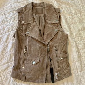 NWT Blank NYC Suede Moto Vest